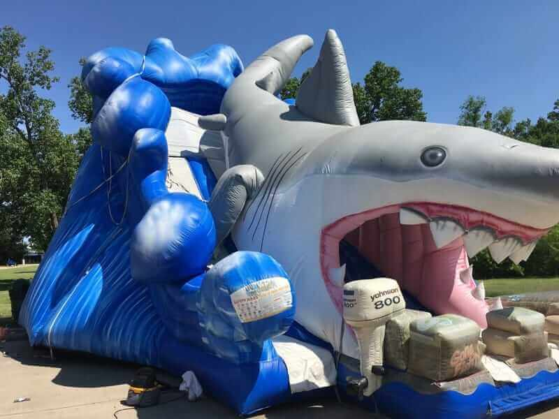 inflatable dry slide rental shark attack