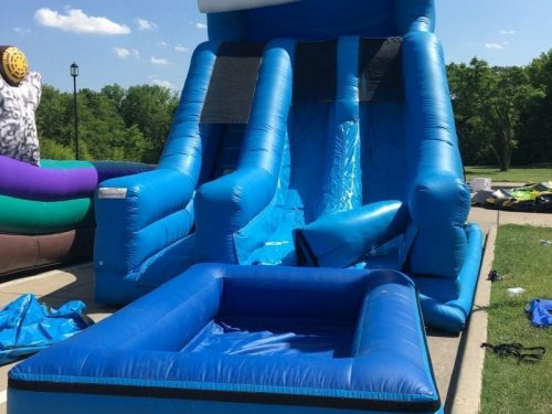 dual lane water slide