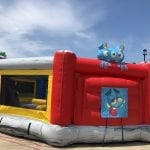 obstacle course bounce house hungry hippo