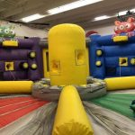 Galaxy games obstacle course bounce house inside