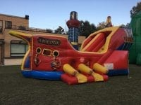 Pirate ship inflatable obstacle bounce house rental