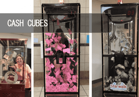 Cash Cube - Money Blowing Machine Rental